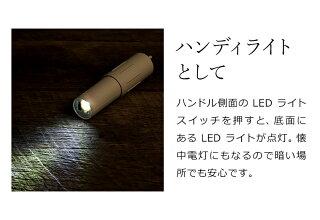 ハンディファンコンパクトポータブルファン扇風機USBブルーノミニファン軽量小型モバイルバッテリーポータブル扇風機充電式懐中電灯ハンドライトBDE042BRUNOコンパクトスティックライトファン