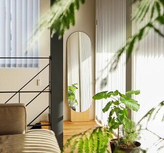 鏡全身鏡ミラー大型おしゃれ壁立て掛けスタンドミラー姿見ウォールミラー木製スリムシンプルモヘイム北欧玄関MOHEIMSTANDINGMIRROR