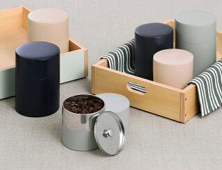 キャニスター保存缶蓋付きコーヒー紅茶保存容器密閉茶筒茶缶茶葉入れ調味料丸型ストッカー収納日本製見せる収納モヘイムシンプルギフトSサイズMOHEIMTINCANISTERS