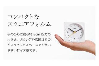置き時計置時計ブラウンおしゃれギフト目覚まし時計目覚し時計テーブルクロックトラベルクロックミニ小さいアナログアラームBRAUNクラシックアナログアラームクロックBC03