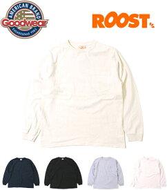 GOODWEAR グッドウェア Tシャツ ロングスリーブ 長袖 クルーネック ポケット アメリカ製 ソーズカンパニー 日本正規品