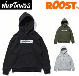WILDTHINGS ワイルドシングス パーカー ボックスロゴパーカー リフレクター ロゴ WT19142N 日本正規品 2019秋冬
