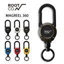 【ROOT CO.】 GRAVITY MAGREEL 360 マグネット内蔵型カラビナリールキーホルダー 【 リール キーホルダー リールキー …
