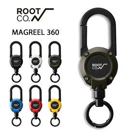 【ROOT CO.】 GRAVITY MAGREEL 360 マグネット内蔵型カラビナリールキーホルダー