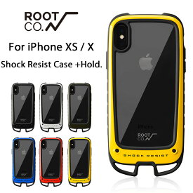 [iPhone XS/X専用]ROOT CO. Gravity Shock Resist Case +Hold.