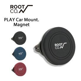 【ROOT CO.】PLAY Car Mount. Magnet 【 車載ホルダー スマホホルダー iPhone 車載用 マグネット ホルダー スマートフォン スタンド スマホスタンド 車 エアコン カーマウント 】