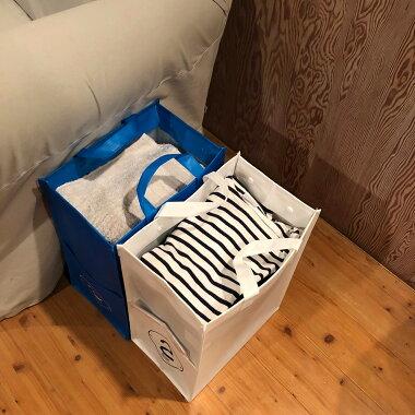 ゴミ箱にもなるトートバッグ