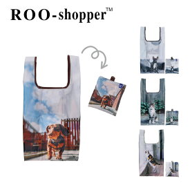 3428 ルートート(ROOTOTE)/EU.ルーショッパーREG.フォト-R(全4種)エコバッグ お買い物バッグ コンパクト 犬 イヌ 猫 ネコ レディース トートバッグ