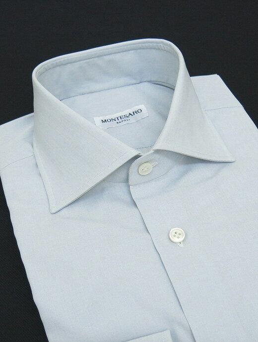 MONTESARO モンテサーロ シャツ ドレス ワイドカラー ライトグレー mot301602