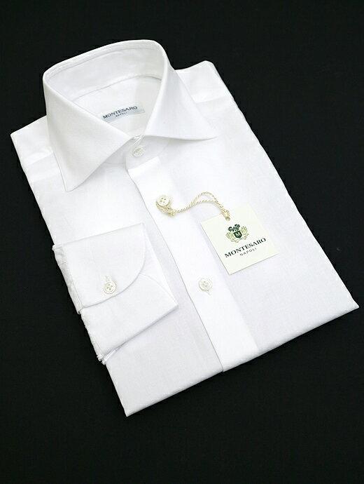 MONTESARO モンテサーロ ドレスシャツ ワイドカラー ホワイト mot302201