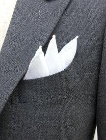 MUNGAI ムンガイ チーフ ポケットチーフ リネン ホワイト mug321802