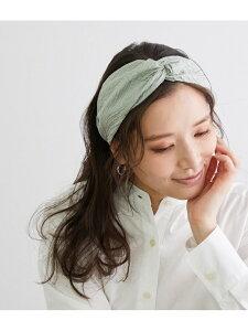 エンボスパターンヘアターバン ROPE' PICNIC PASSAGE ロペピクニック 帽子/ヘア小物 カチューシャ/ヘアバンド グリーン ブラック[Rakuten Fashion]