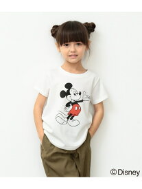 [Rakuten BRAND AVENUE]【ROPE' PICNIC KIDS】【DISNEY(ディズニー)】MICKEY Tシャツ ROPE' PICNIC KIDS ロペピクニック カットソー