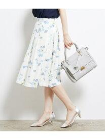 [Rakuten Fashion]【SALE/40%OFF】フラワープリントタックスカート ROPE' PICNIC ロペピクニック スカート スカートその他 ホワイト ネイビー【RBA_E】