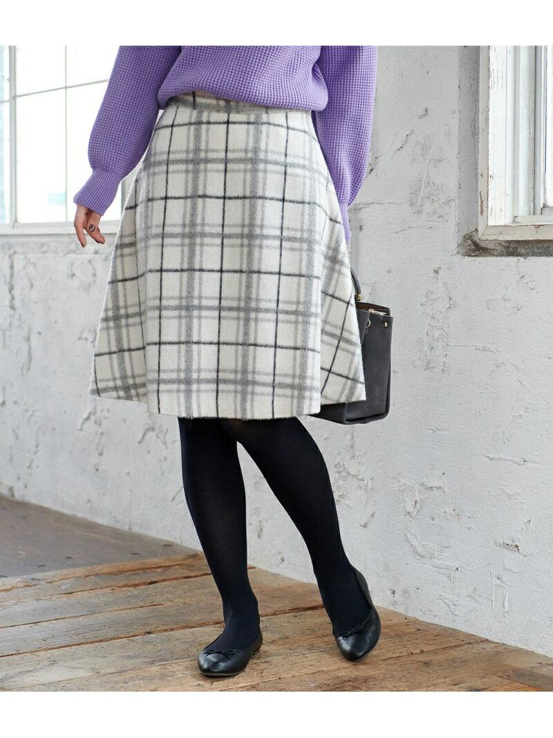 [Rakuten BRAND AVENUE]ウール混立体シャギーフレアスカート ROPE' PICNIC ロペピクニック スカート【送料無料】