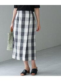 [Rakuten Fashion]【SALE/50%OFF】リネン混ビッグチェックアイラインスカート ROPE' PICNIC ロペピクニック スカート スカートその他 ブラック ブラウン パープル【RBA_E】