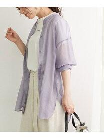 シアーチュニックシャツ ROPE' PICNIC ロペピクニック シャツ/ブラウス シャツ/ブラウスその他 パープル ベージュ グリーン【送料無料】[Rakuten Fashion]