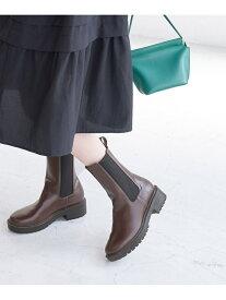 【SALE/10%OFF】【WEB限定】軽量プラットフォームブーツ ROPE' PICNIC PASSAGE ロペピクニック シューズ ショートブーツ/ブーティー ブラウン ブラック【RBA_E】【先行予約】*【送料無料】[Rakuten Fashion]