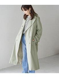 [Rakuten Fashion]コットンライクロングトレンチコート ROPE' PICNIC ロペピクニック コート/ジャケット トレンチコート グリーン ベージュ ネイビー【送料無料】