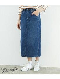 [Rakuten Fashion]【SALE/50%OFF】【WRANGLER×ROPE' PICNIC】セミロングスカート ROPE' PICNIC ロペピクニック スカート デニムスカート ブルー ネイビー【RBA_E】