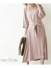 [Rakuten Fashion]【一部店舗限定】【MonE'toile】【結婚式にも】グロッシーエステルツイルワンピース ROPE' PICNIC ロペピクニック ワンピース ワンピースその他 ピンク ネイビー【送料無料】