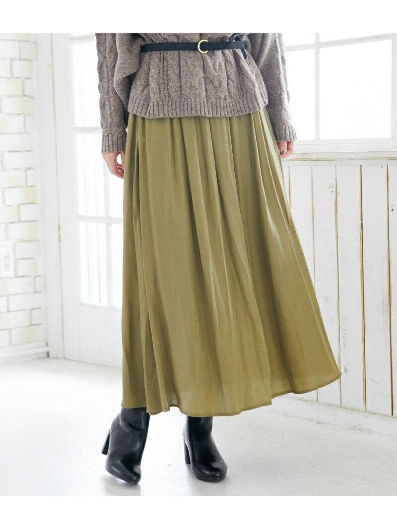 [Rakuten BRAND AVENUE]ドレープツィルマキシスカート ROPE' PICNIC ロペピクニック スカート【送料無料】