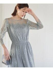 [Rakuten Fashion]【一部店舗限定】【MonE'toile】【結婚式にも】レースDRESS ROPE' PICNIC ロペピクニック ワンピース ワンピースその他 ブルー ブラック ベージュ カーキ【送料無料】