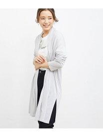 [Rakuten Fashion]【SALE/16%OFF】【UV多機能】ロングカーディガン ROPE' PICNIC ロペピクニック ニット カーディガン グレー ホワイト グリーン ネイビー【RBA_E】