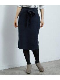[Rakuten Fashion]【SALE/25%OFF】ミラノリブニットラップスカート ROPE' PICNIC ロペピクニック スカート スカートその他 グリーン ネイビー ピンク【RBA_E】
