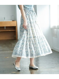 [Rakuten Fashion]【SALE/60%OFF】【WEB限定】パネル柄ティアードスカート ROPE' PICNIC ロペピクニック スカート スカートその他 ホワイト ネイビー【RBA_E】