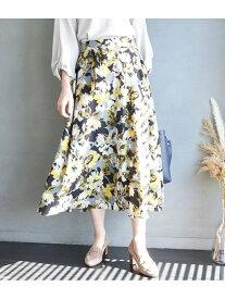 [Rakuten Fashion]【SALE/50%OFF】【新色追加】ビッグフラワーロングスカート ROPE' PICNIC ロペピクニック スカート スカートその他 ブラック グレー ブルー ピンク【RBA_E】