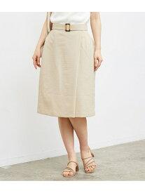 [Rakuten Fashion]【SALE/50%OFF】ラップ風ベルト付きスカート ROPE' PICNIC ロペピクニック スカート スカートその他 ベージュ グレー ネイビー【RBA_E】