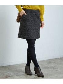 [Rakuten Fashion]【SALE/50%OFF】ブークレー台形ミニスカート ROPE' PICNIC ロペピクニック スカート スカートその他 グレー レッド【RBA_E】