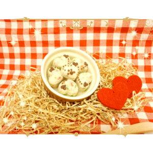 ◆ぷっくりハートのぷち豆腐バーグ◆愛犬用ごはん・愛猫用ごはん・ペット用ごはん・手作りごはん・無添加