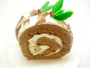 【クリスマスケーキ】 ブッシュドノエルカットタイプ1個