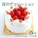 誕生日ケーキ バースデーケーキ 苺のデコレーション5号 4〜6人 ストロベリー フルーツ