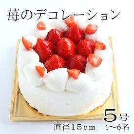 誕生日ケーキ バースデーケーキ 苺のデコレーション5号 4〜6人 ストロベリー フルーツ生クリーム