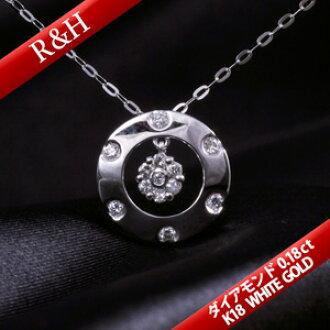白色合金項鏈K18項鏈吊墜高質量列車時間表/18錢/K18/GOLD☆WG]黄金(白)禮物/禮物/女性/女士/necklace/DIAMOND