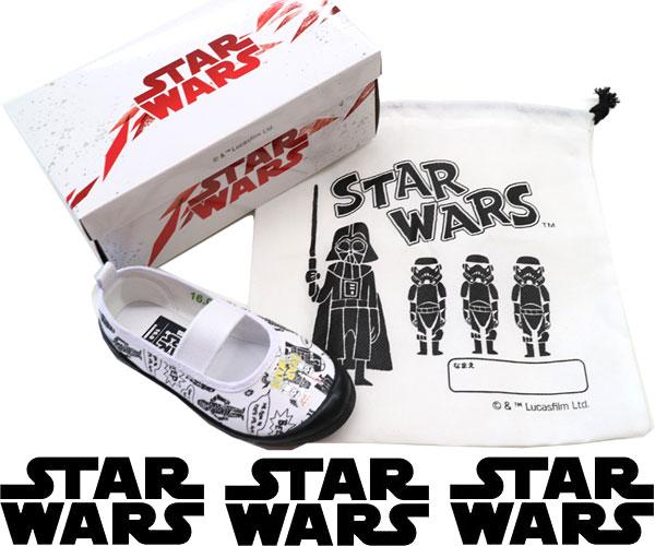 【スター・ウォーズ】ディズニー 上履き ダース・ベイダー 靴 子供靴 袋付き バレーシューズ 新入学 新学期 95 R2-D2 C-3PO STAR WARS トルーパー キッズシューズ 1021