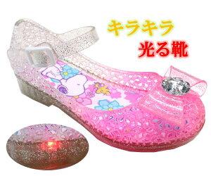 光る靴 スヌーピー PEANUTS ガラスの靴 サンダル キッズスニーカー キッズシューズ 子供靴 靴 スヌーピー サンダル 8121 01 ピンク