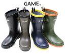 送料無料 GAME レインブーツ 長靴 レインシューズ 通学 学校 遠足 完全防水 キッズシューズ ジュニア 19〜24cmまであ…