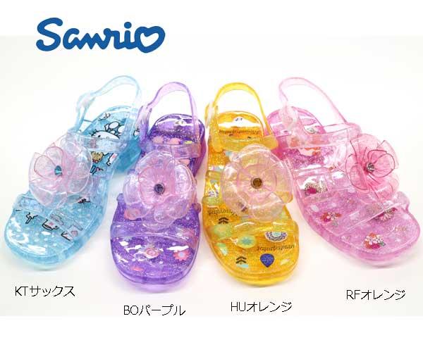 【サマーセール】サンリオ ガラスの靴 ハローキティ ぼんぼんりぼん リルリルフェアリル ハミングミント サンダル お姫様 キッズシューズ 子供靴 【サンリオ 靴】サンリオグッズ SA-9119