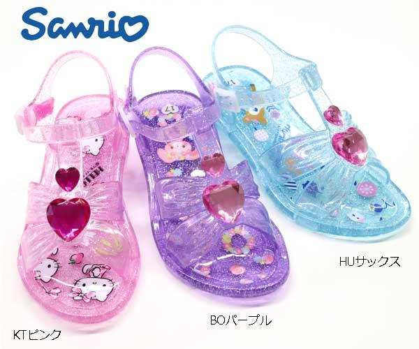 【サマーセール】サンリオ ガラスの靴 ハローキティ ぼんぼんりぼん ハミングミント サンダル お姫様 キッズシューズ 子供靴 【サンリオ 靴】サンリオグッズ SA-9121