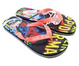 送料無料 ビーチサンダル メンズ 大人 スパイダーマン MARVEL メンズサンダル ビーサン ディズニー Disneyzone ディズニーグッズ プール 海 3086