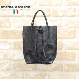 イタリア製レザーミニトートバッグANDREA CARDONEアンドレア・カルドネcardone-1083-metalblackメタルブラック13000