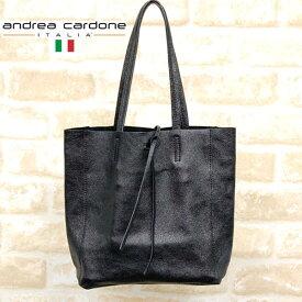 イタリア製レザートートバッグANDREA CARDONEアンドレア・カルドネcardone-2065-metalblackメタルブラック14000