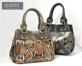 由意大利袋蛇皮革制成的 <>打印的手提包东望洋金币