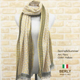 ストール春夏イタリア製レディース・メンズ・ユニセックスraro-yellow・BERLYベリー【マフラー】【スカーフ】【stole】【women】【men】12000
