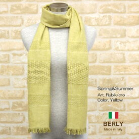 ストール春夏イタリア製レディース・メンズ・ユニセックスrubik-yellow・BERLYベリー【マフラー】【スカーフ】【stole】【women】【men】11000