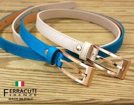 イタリア製ベルト レディースゴールドスクエアバックルベルト f0142FERRACUTI フェラキューティ【レディース】【ファッション】【バックル】【革小物】【belt】【ブランド】【通販】【ランキング】9000